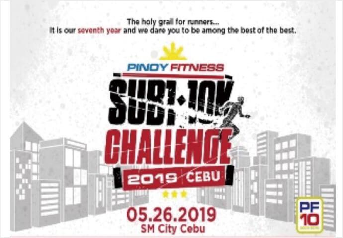 PINOY FITNESS SUB1 10K  CHALLENGE CEBU