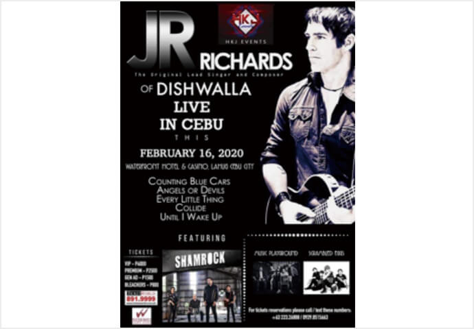 JR Richards of DISHWALLA Live in Cebu
