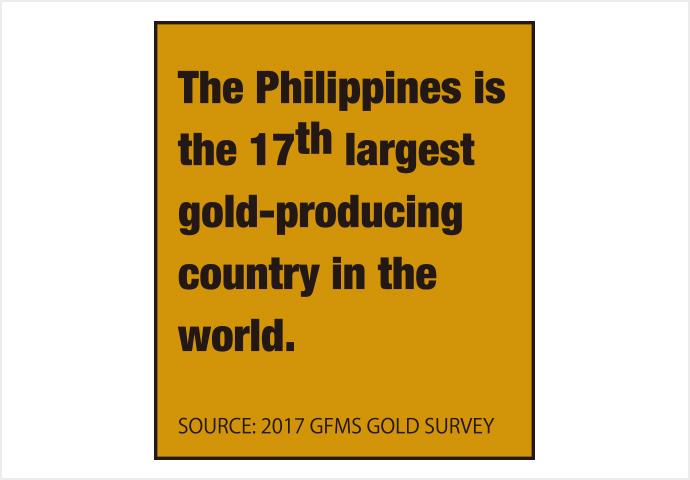 フィリピンが世界トップ20か国の金原産地に 仲間入り。世界で17番目の金採掘量を誇る