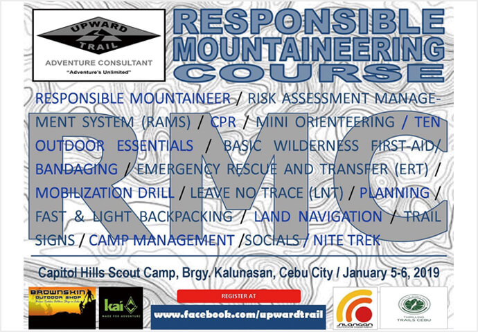 Responsible  Mountaineering Course (RMC) 登山入門イベント