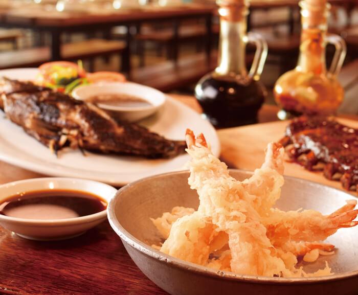 食材の旨味を感じたいなら、シンプルな天ぷらが一番!  自分の目で見て選んだエビを食べることができるので 安心感が違います♡