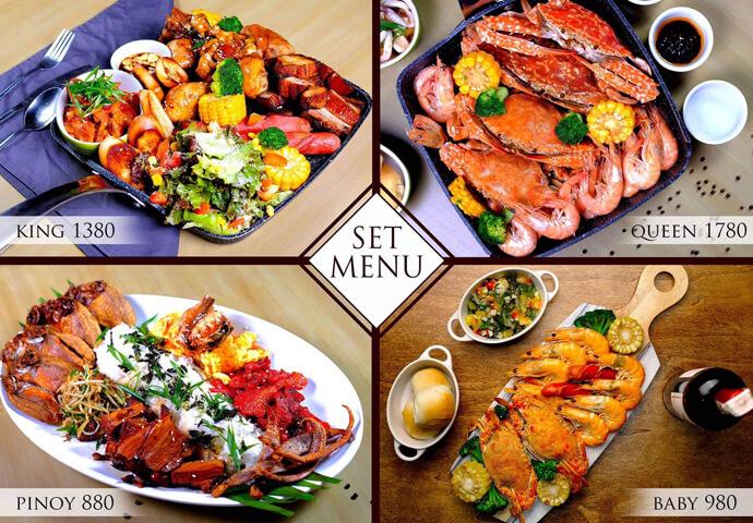 フィリピン料理でおなじみのエビやカニ料理も盛りだくさん♡   女性に人気のパスタ、オムレツもあるので、 デートにオススメ♪