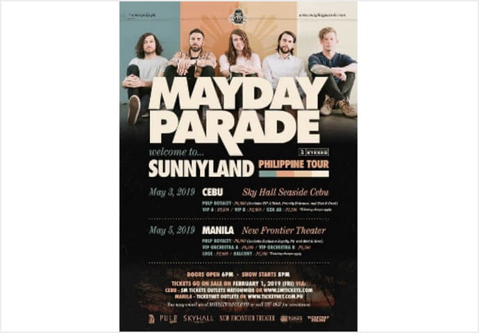 MAYDAY PARADE'S WELCOME  TO SUNNYLAND PH TOUR