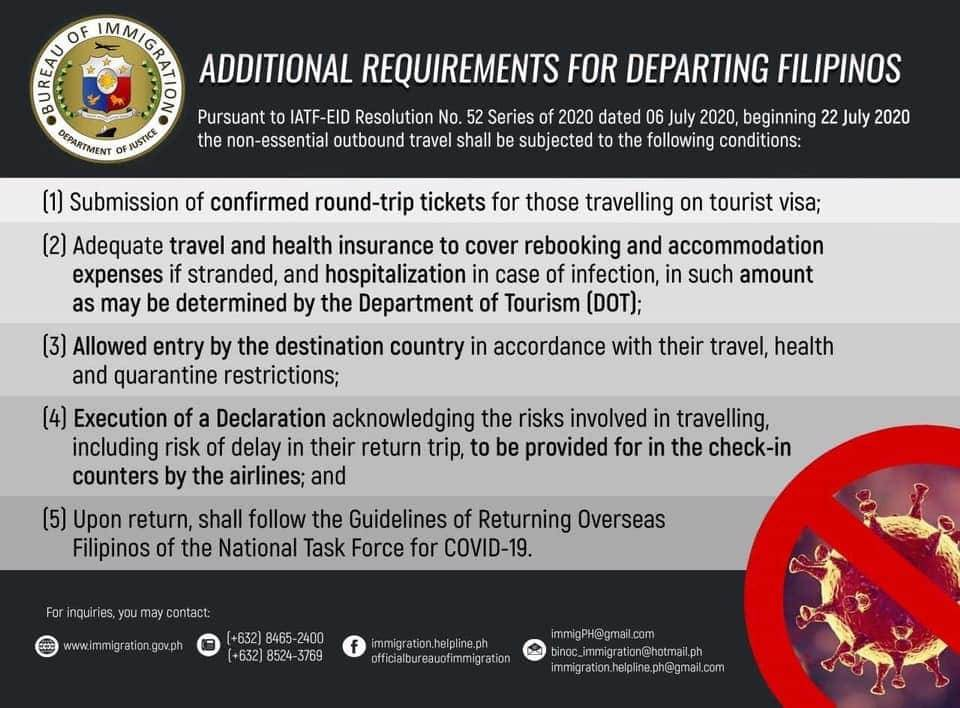 インバウンドおよびアウトバウンドの旅行制限に関するイミグレーションからの最新情報です。  8月1日以降、フィリピンへ入国出来る外国人は以下のビザを持っている外国人です。  ・13A(結婚仮永住ビザ) ・13B(結婚永住ビザ) ・13C(両親がフィリピンのビザを取得した後に生まれた子どものビザ) ・13D(外国人配偶者と結婚しフィリピン国籍を失った女性、また21歳未満で未婚の子どものビザ) ・13E(クォータビザ) ・13G(フィリピンに永住を望んでいる外国で生まれたフィリピン人とその扶養家族のビザ) ・RA 7919ビザ ・EO 324ビザ ・Native-bornビザ(フィリピンで生まれた人のビザ)  入国に必要な書類や、手続きについての詳細は以下のリンクを確認下さい。 https://m.facebook.com/story.php?story_fbid=1751978374940862&id=133424753462907   ソース:Bureau of Immigration