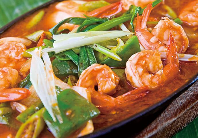 フィリピン料理の中でもオススメは、ガンバス♪ピリッと辛く、ごはんが進む♡