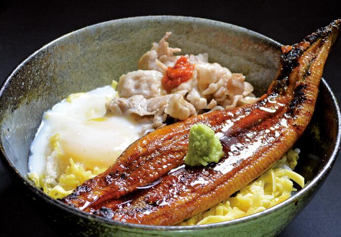 スタミナうな丼(味噌汁付き)
