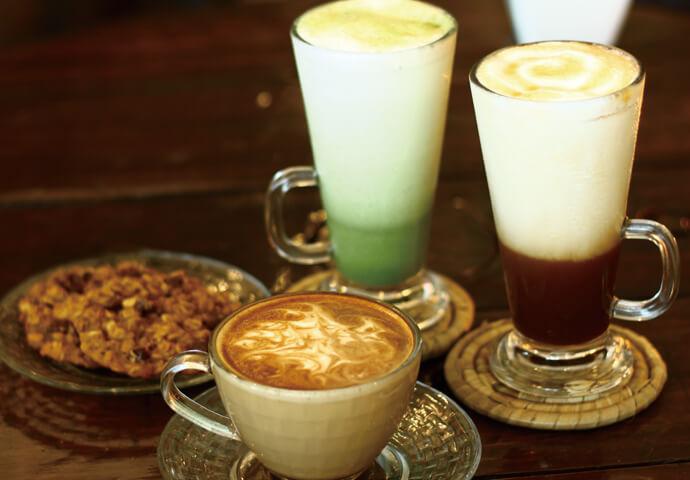 Hot Café Latte ホットカフェラテ等