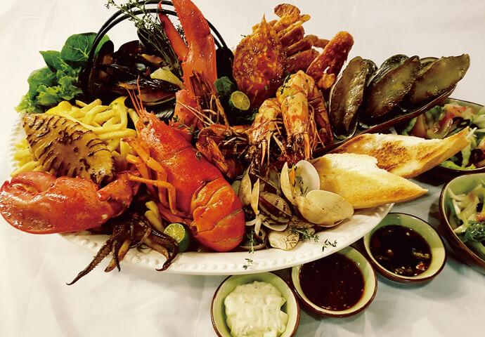 Seafood Platterシーフードの盛り合わせ